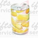 Kukurydza w metalowej reklamowej puszce
