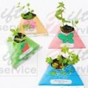 Reklamowe mini rośliny w opakowaniu papierowym