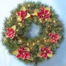 Prelit Christmas Wreaths