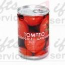 Pomidory w metalowej pusze reklamowej