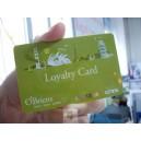 Plastikowe karty lojalnościowe z nadrukiem